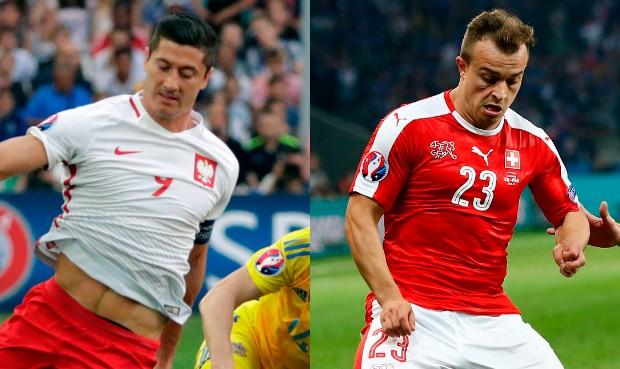 Futbol: Suiza y Polonia por un lugar en cuartos de final de la Euro