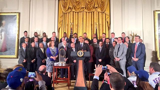 Beisbol, MLB: Cachorros de Chicago visitó al Presidente Obama en la Casa Blanca