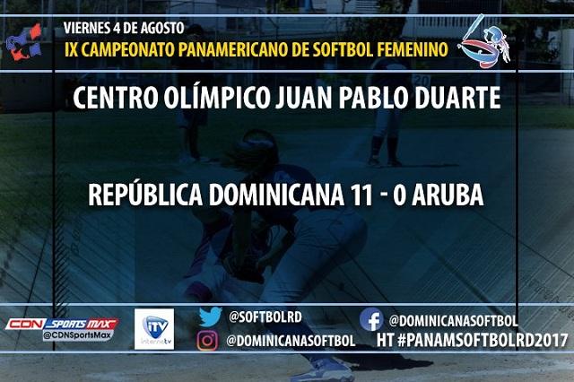 Beisbol, Softbol, WBSC: Dominicana inició con victoria el Panamericano de Softbol