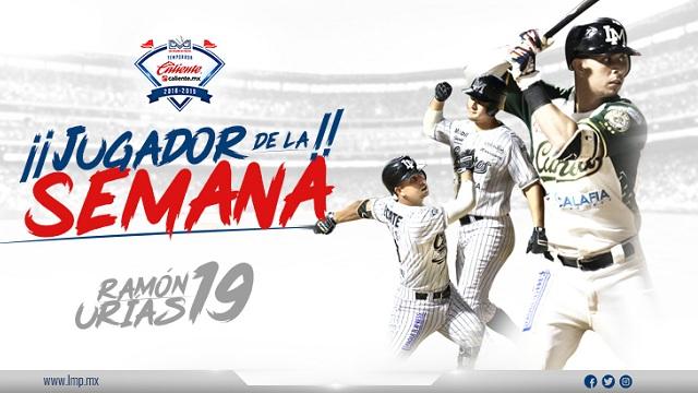 Beisbol, LMP: Ramón Urías, el Jugador de la Semana LMP