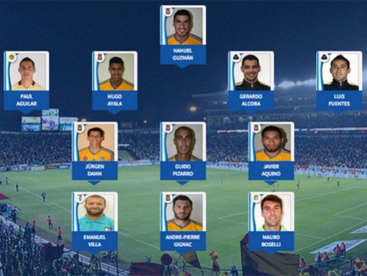 Futbol: Seis jugadores de Tigres están en el once ideal del Apertura 2015 de la Liga MX