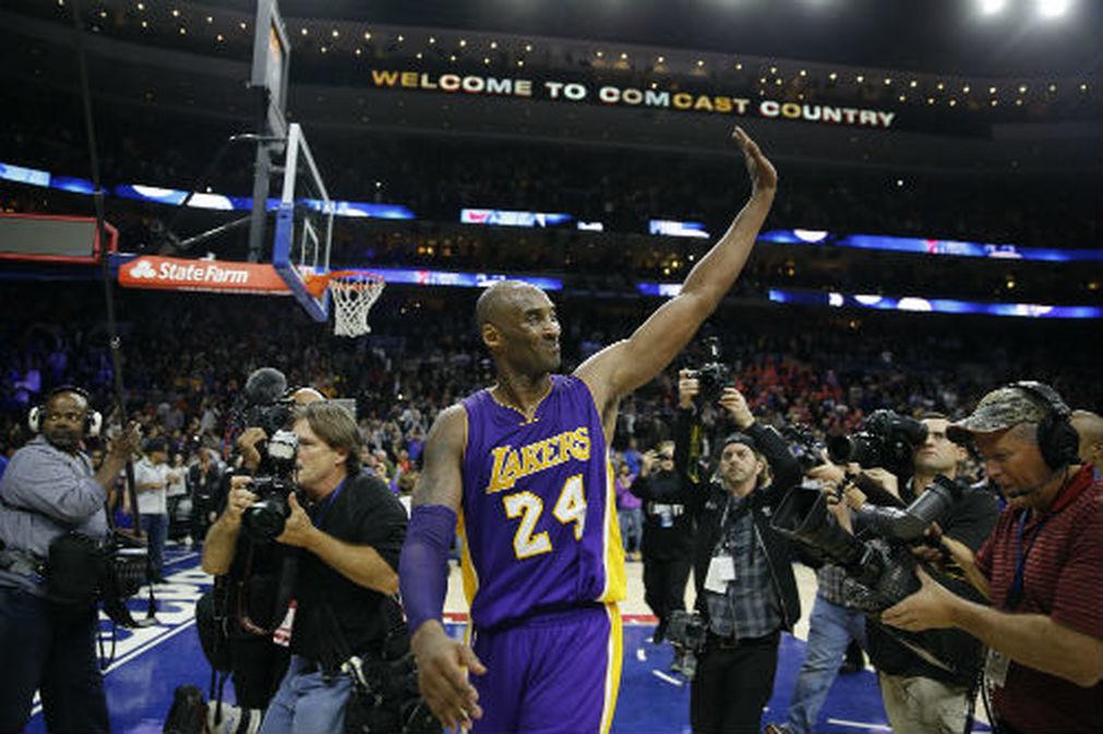 Basketball, NBA. Kobe agradece al público de Filadelfia