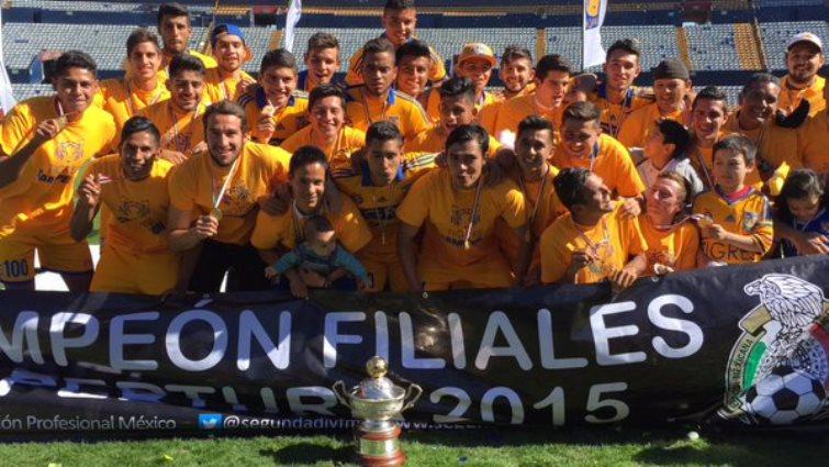 Futbol: Tigres es el rey de las filiales en Segunda División