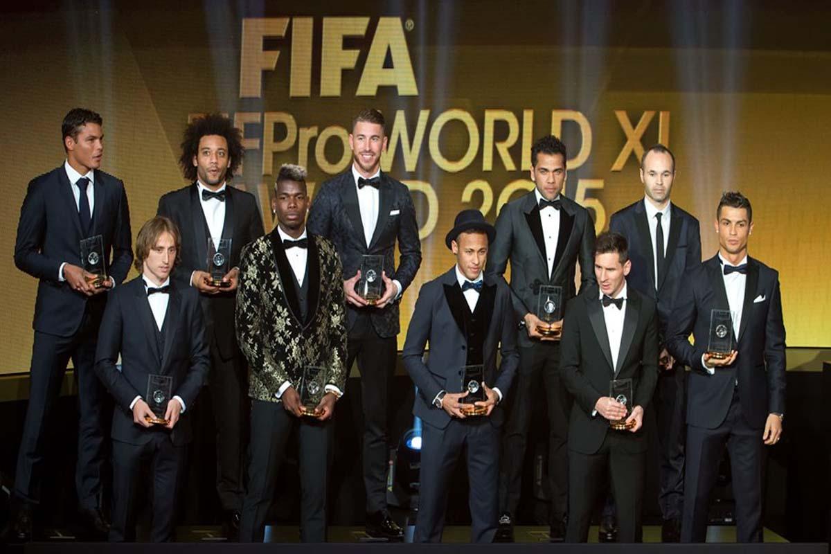 Futbol, Balón de Oro: El 11 ideal es de Barcelona y Real Madrid