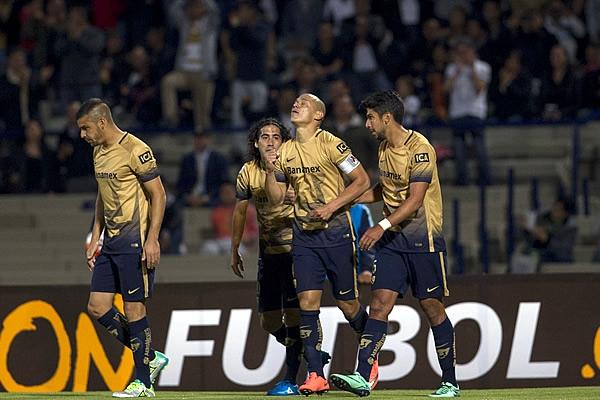 Futbol: Pumas tuvo complicaciones pero vence al Emelec en Libertadores