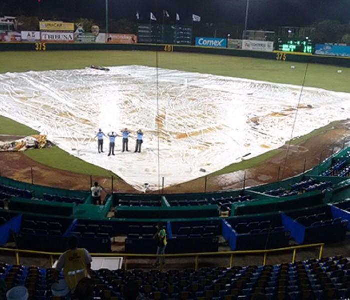 Beisbol, LMB: Rieleros ganan en juego pasado por agua.