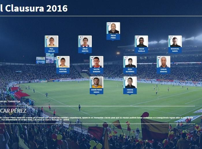 Futbol: Liga MX presentó a su once ideal del Clausura 2016