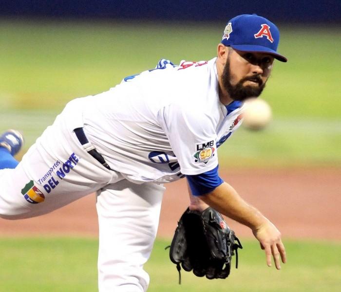 Beisbol, LMB: Josh Lowey el mejor entre los lanzadores en LMB.