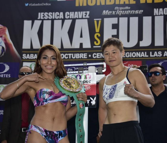 Box: Kika Chávez y Fujioka vencen al primer rival