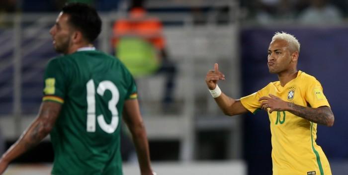 Futbol: Brasil goleó a Bolivia y se mantiene sublíder