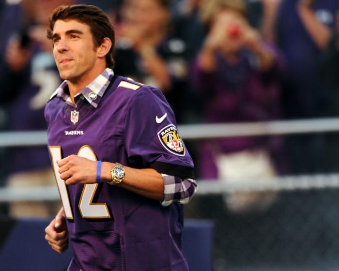 Futbol Americano, NFL: Ravens rinde homenaje a Michael Phelps