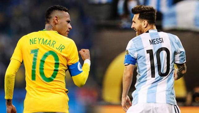 Futbol: Messi y Neymar se enfrentan en el clásico sudamericano