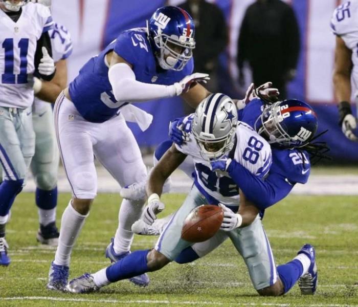 NFL, Futbol Americano: Giants rompen racha de los Cowboys