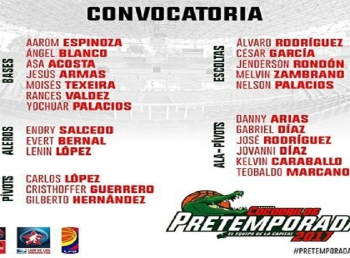 FIBA, LDA, LPB: Cocodrilos de Caracas presenta la convocatoria para la pretemporada