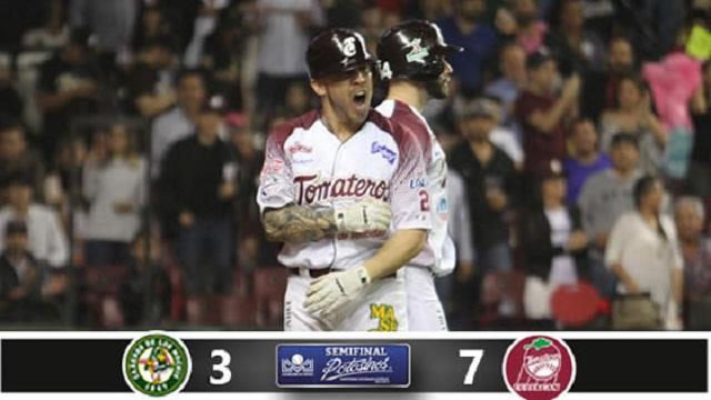Beisbol, LMP: Chávez rompe el empate y Tomateros gana el primero en casa