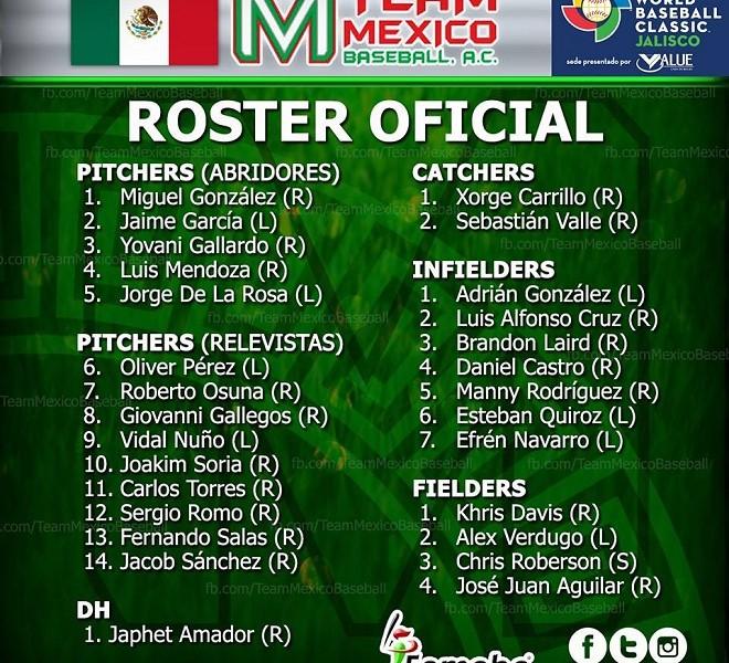 Beisbol, WBC: Edgar González anunció el roster de México para el Clásico Mundial