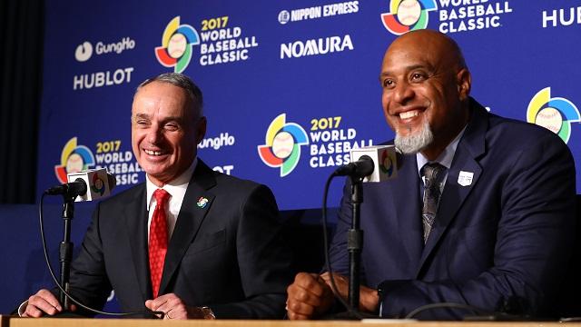 Beisbol, WBC: Rob Manfred y Tony Clark, complacidos con la realización del Clásico Mundial