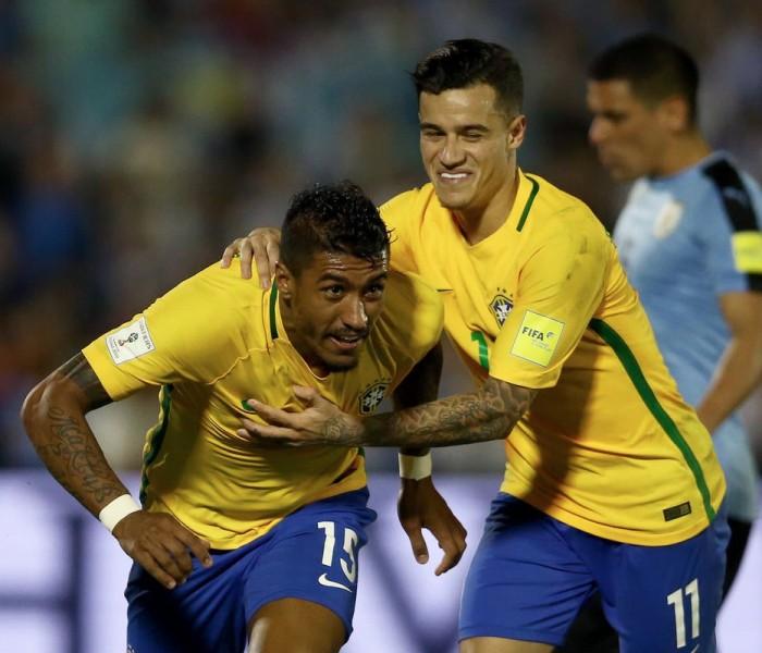 Fútbol: Paulinho y Neymar encaminan a Brasil hacía Rusia 2018