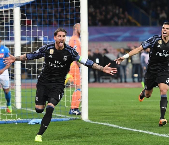 Futbol: Gracias a la figura de Ramos, Real Madrid acaba con el Napoli