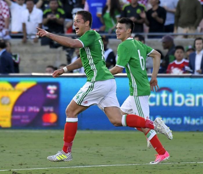 Fútbol: Chicharito hace su gol histórico con la Selección Mexicana