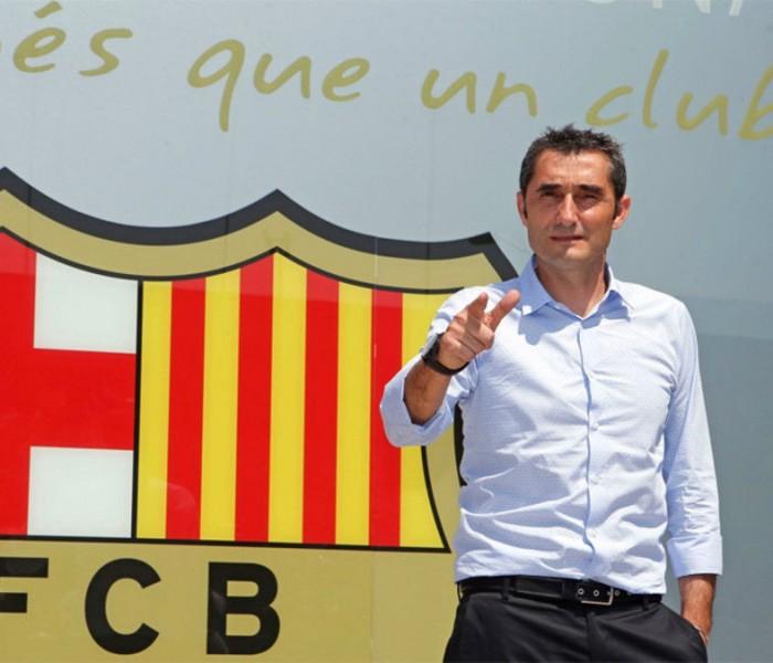 Fútbol: Presentan de manera oficial a Valverde en Barcelona