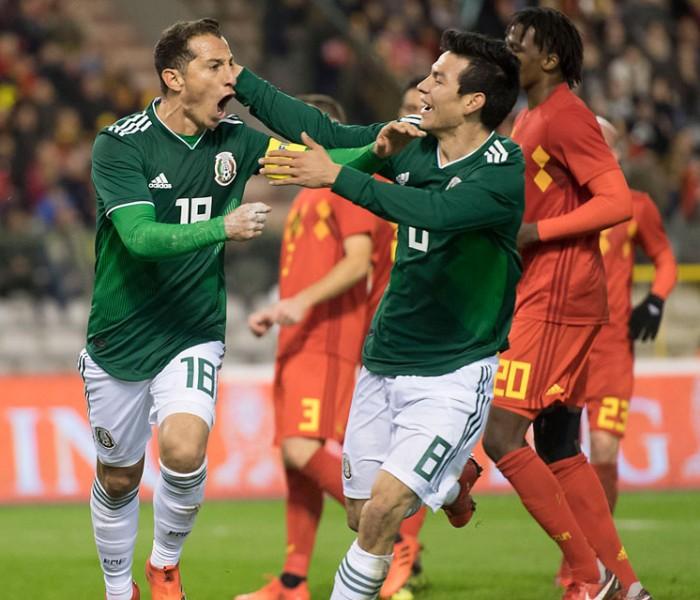 Fútbol: Hirving Lozano se luce en el empate de México ante Bélgica