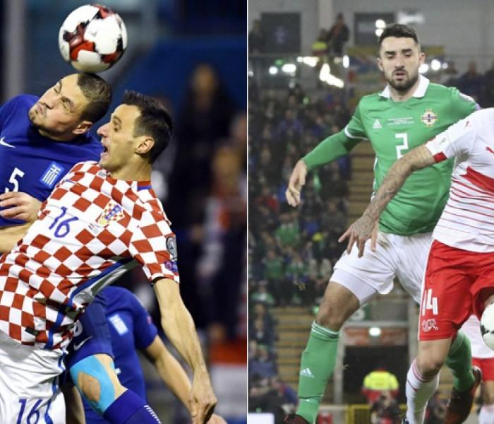 Fútbol: Croacia y Suiza empatando se califican a Rusia 2018