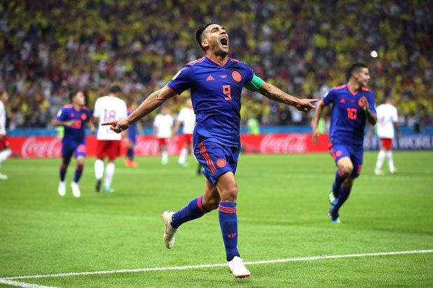 Fútbol: Colombia revive en el Mundial con goles de Falcao, Cuadrado y Mina