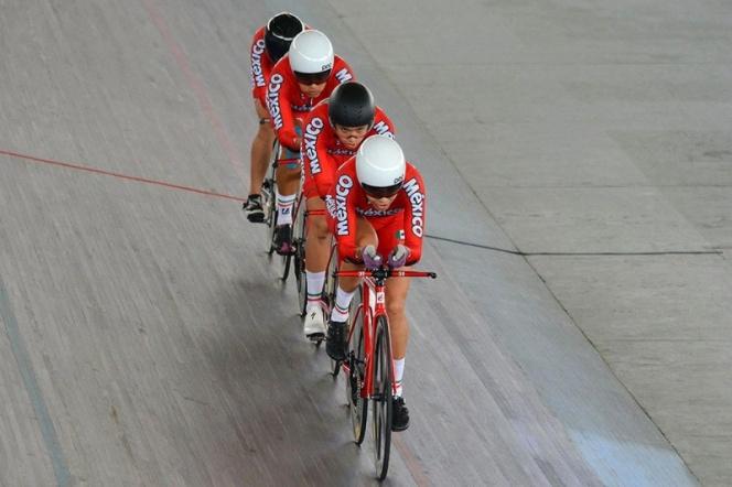 JCC, Ciclismo: Mexicanos consiguen oro en la prueba de velocidad