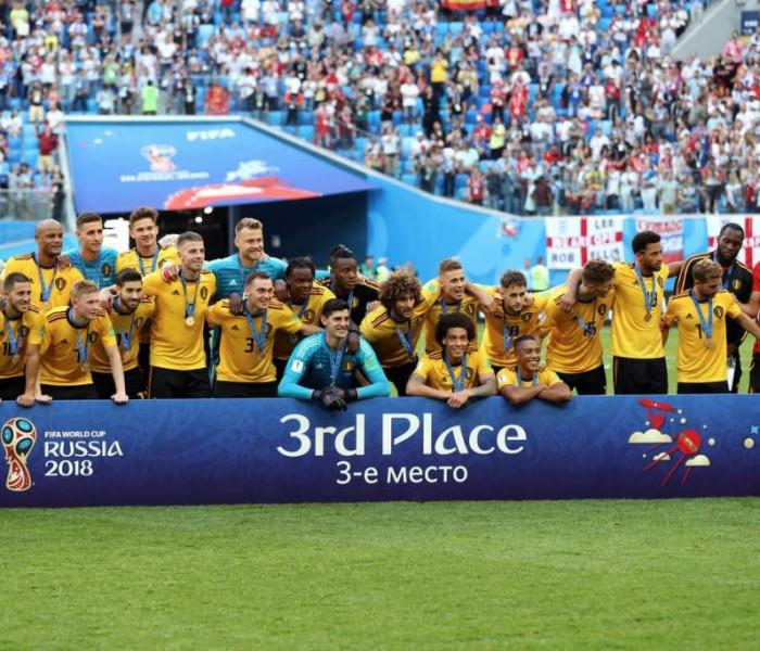 Fútbol: Bélgica ganó el tercer lugar de Rusia 2018