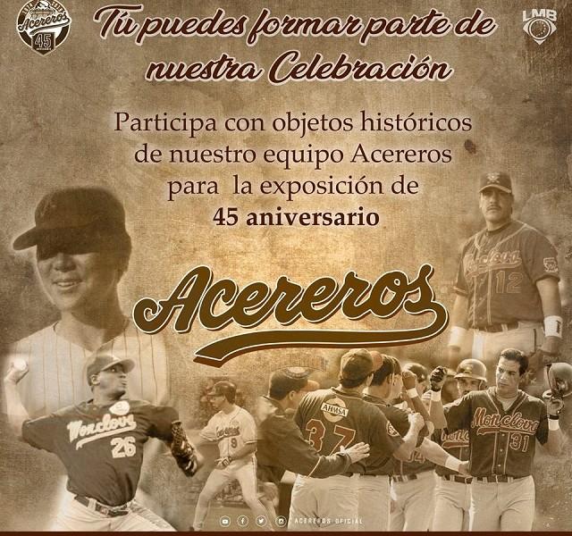 Beisbol, LMB: Acereros de Monclova celebrará su 45 aniversario