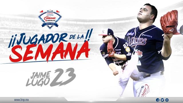 Beisbol, LMP: Jaime Lugo, Jugador de la Semana LMP