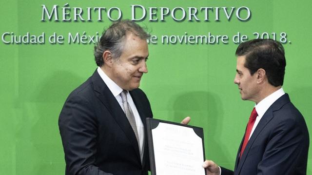Beisbol, LMP: Entregan el Premio Nacional al Mérito Deportivo al Presidente de Charros