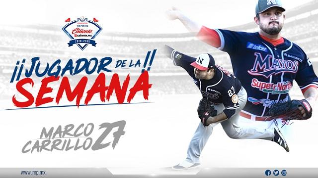 Beisbol, LMP: Marco Carrillo, el Jugador de la Semana LMP