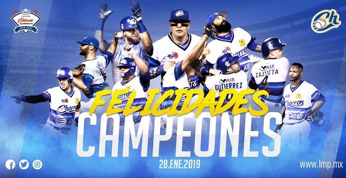 Beisbol, LMP: ¡Charros de Jalisco, campeones de la Liga Mexicana del Pacífico!