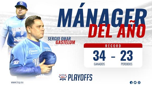 Beisbol, LMP: Sergio Omar Gastélum, Manager del Año de la LMP