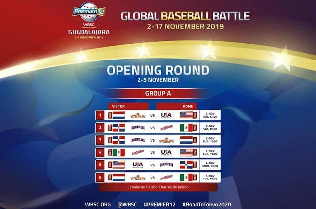 Beisbol, WBSC: Anuncian calendario de juegos del Grupo A y B del Premier12