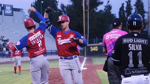 Beisbol, LMB: Generales se llevó el triunfo en 14 entradas en Aguascalientes