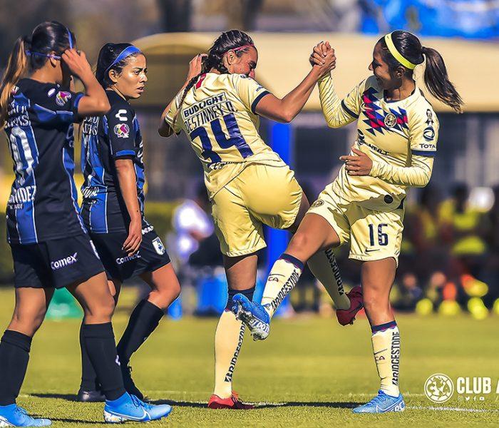 Futbol: América femenil  golea a Querétaro para ser líder nuevamente de la Liga MX Femenil