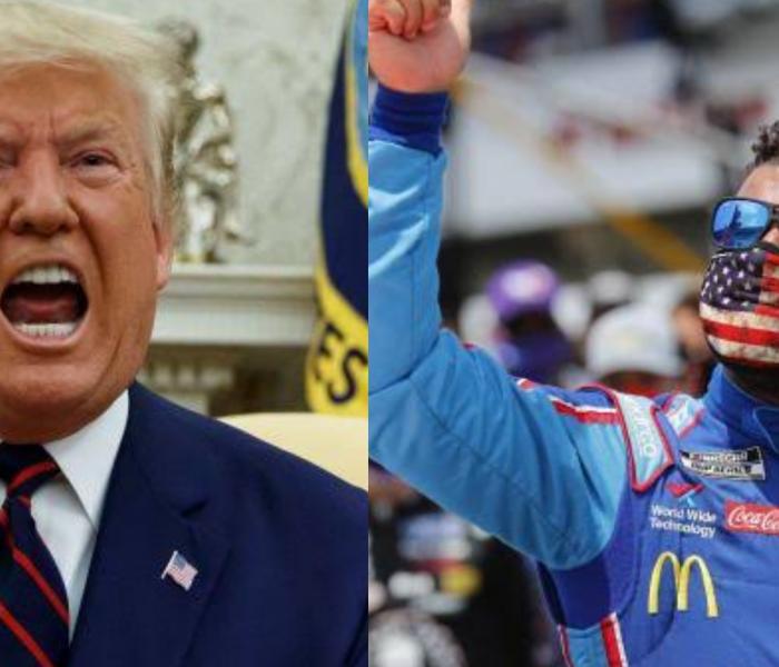 Donald Trump pide a Piloto de la NASCAR que se disculpe por temas raciales.