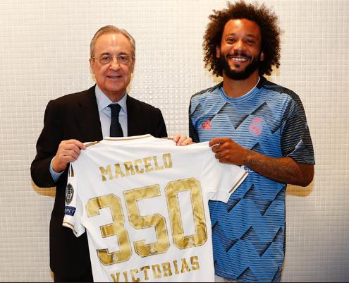 Marcelo logró su victoria 350 con el Real Madrid