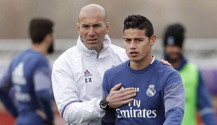 Zidane dice que no desprecia a nadie pero James sigue sin jugar