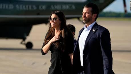 La novia de Donald Trump Junior dió positivo a Covid-19
