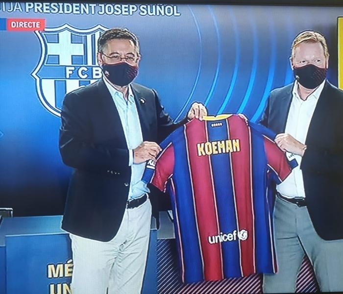 """Barcelona: Koeman """"Tenemos que trabajar mucho para recuperar el prestigio."""""""