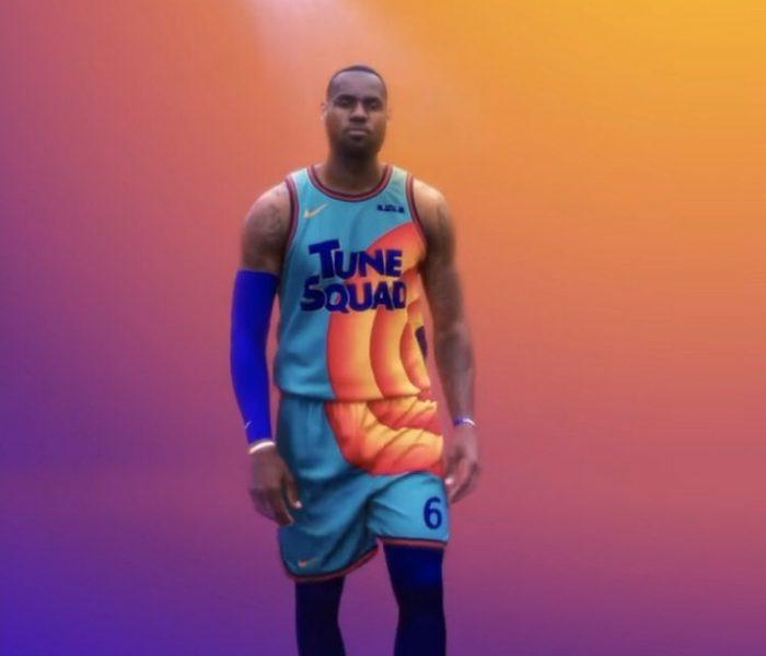 Todo está listo… Lebron James ya usa los colores del Tune Squad