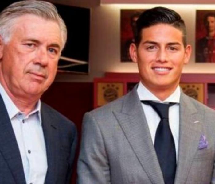 Ancelotti le tiene mucha confianza a James, esto fue lo que dijo a su llegada