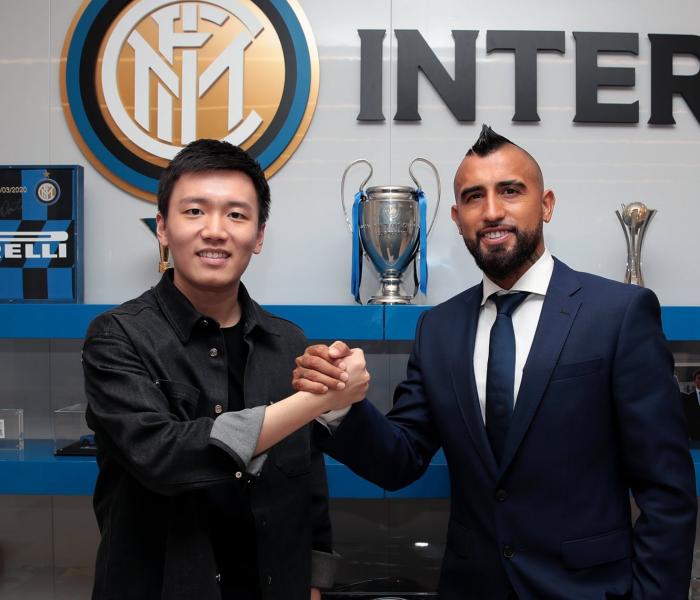 Vidal es presentado y ya entrena con el Inter