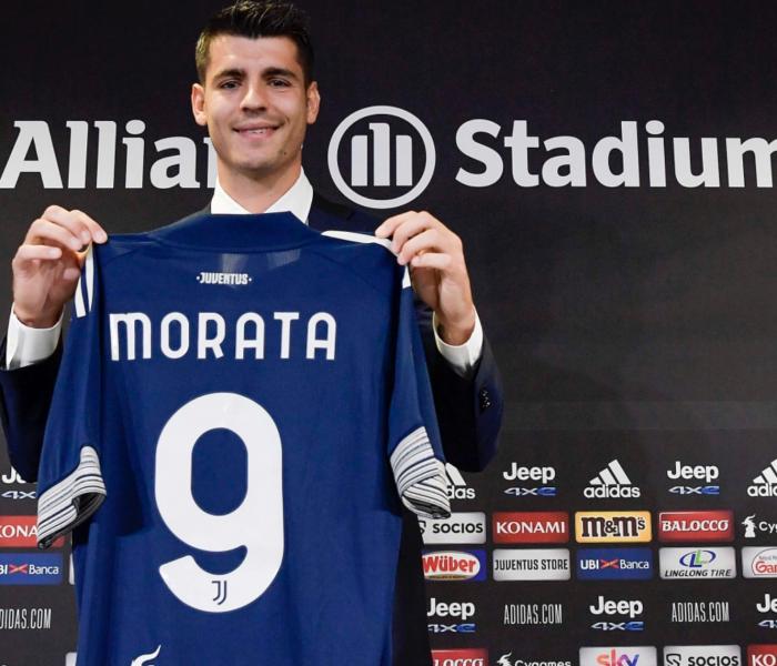 Morata es presentado con la Juventus…era su sueño