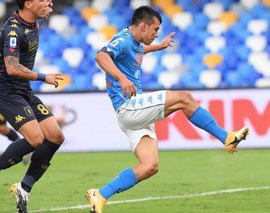 Respondiendo a la confianza… Chucky Lozano anota con el Napoli