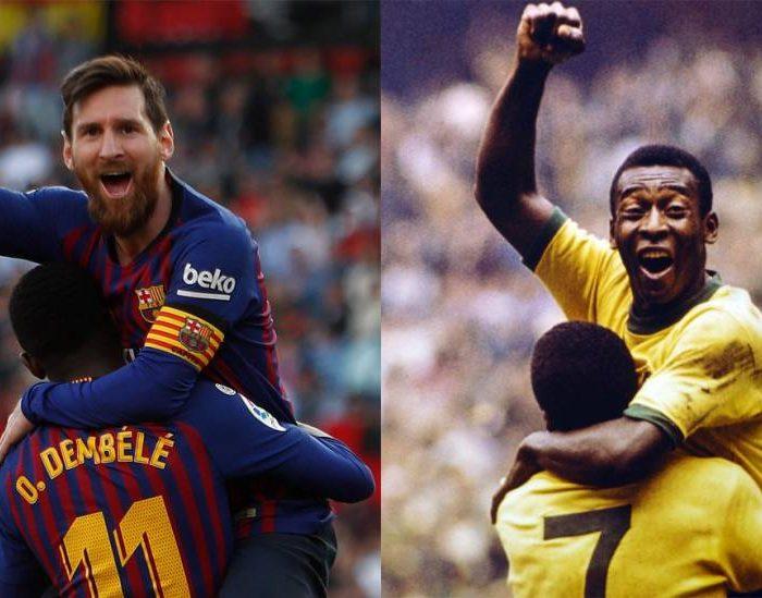Pelé felicita a Messi por igualar su récord
